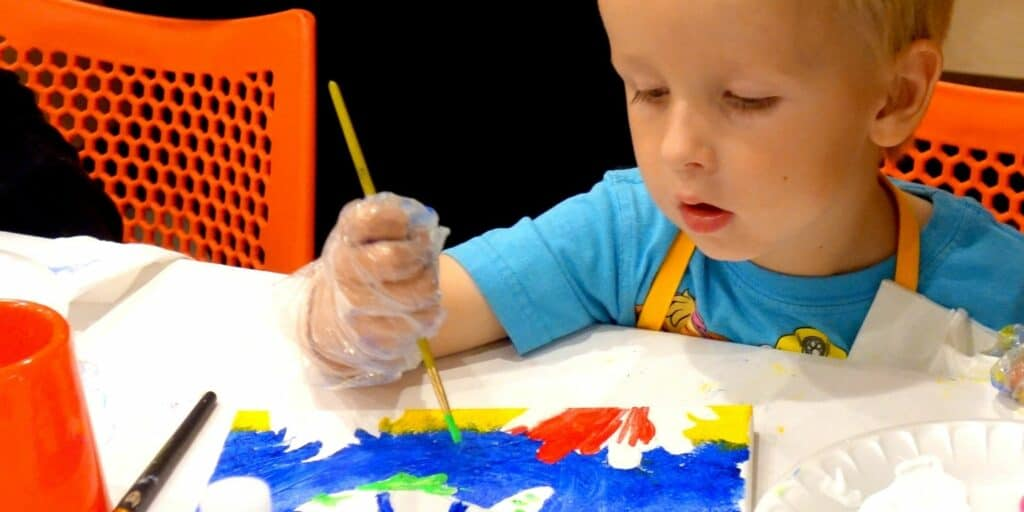 Paint Party for Boys Pleasanton California