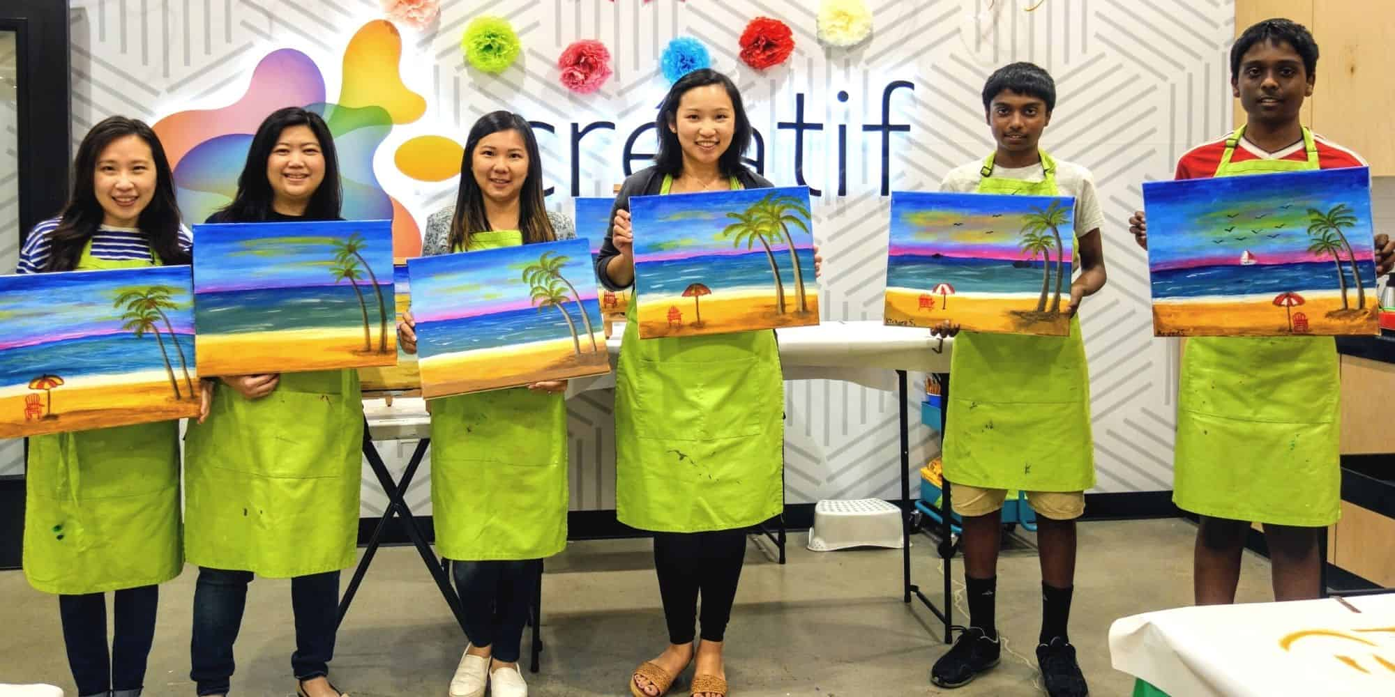 Painting Class With Friends Pleasanton California