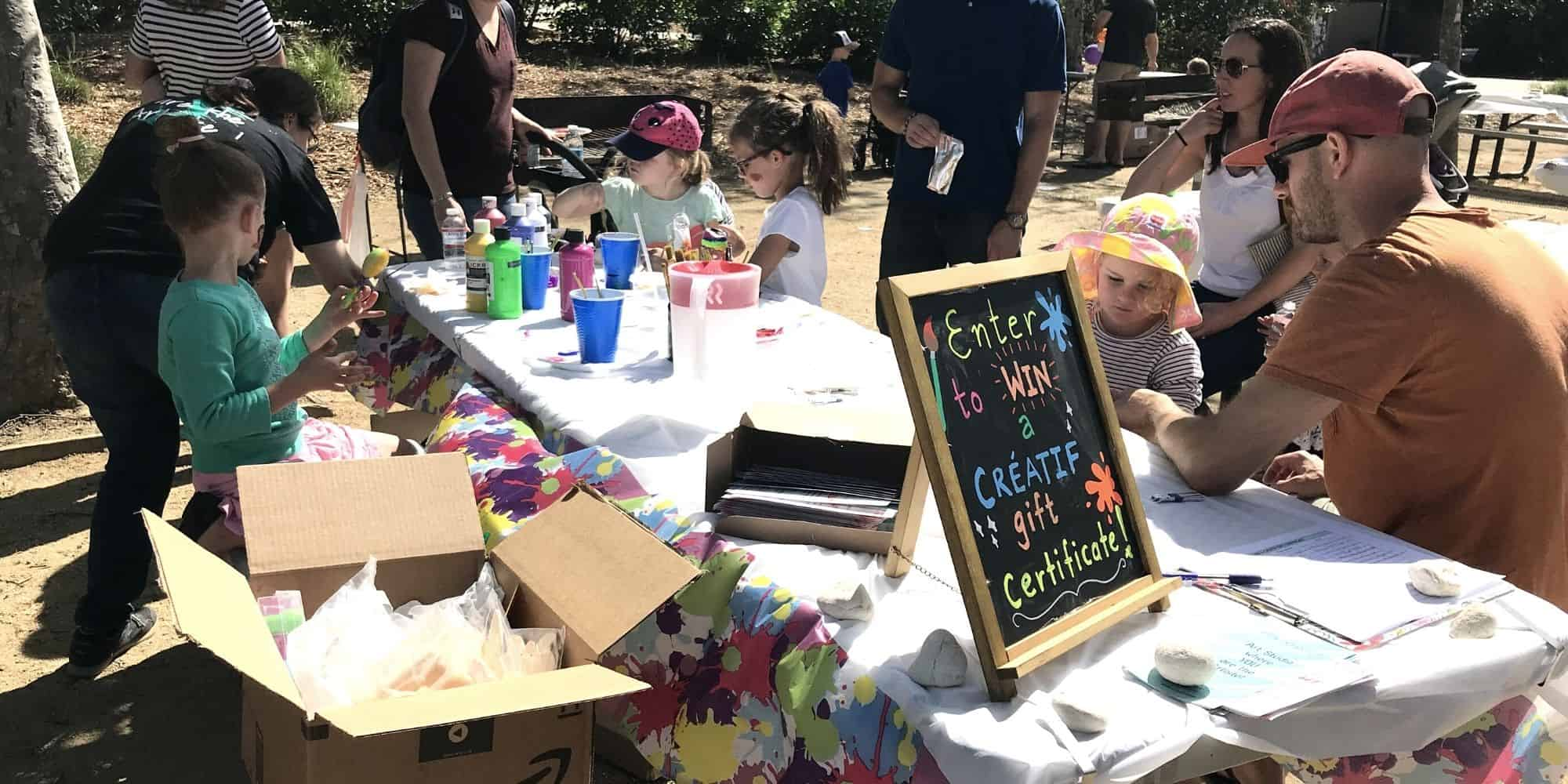 Art activity fundraiser