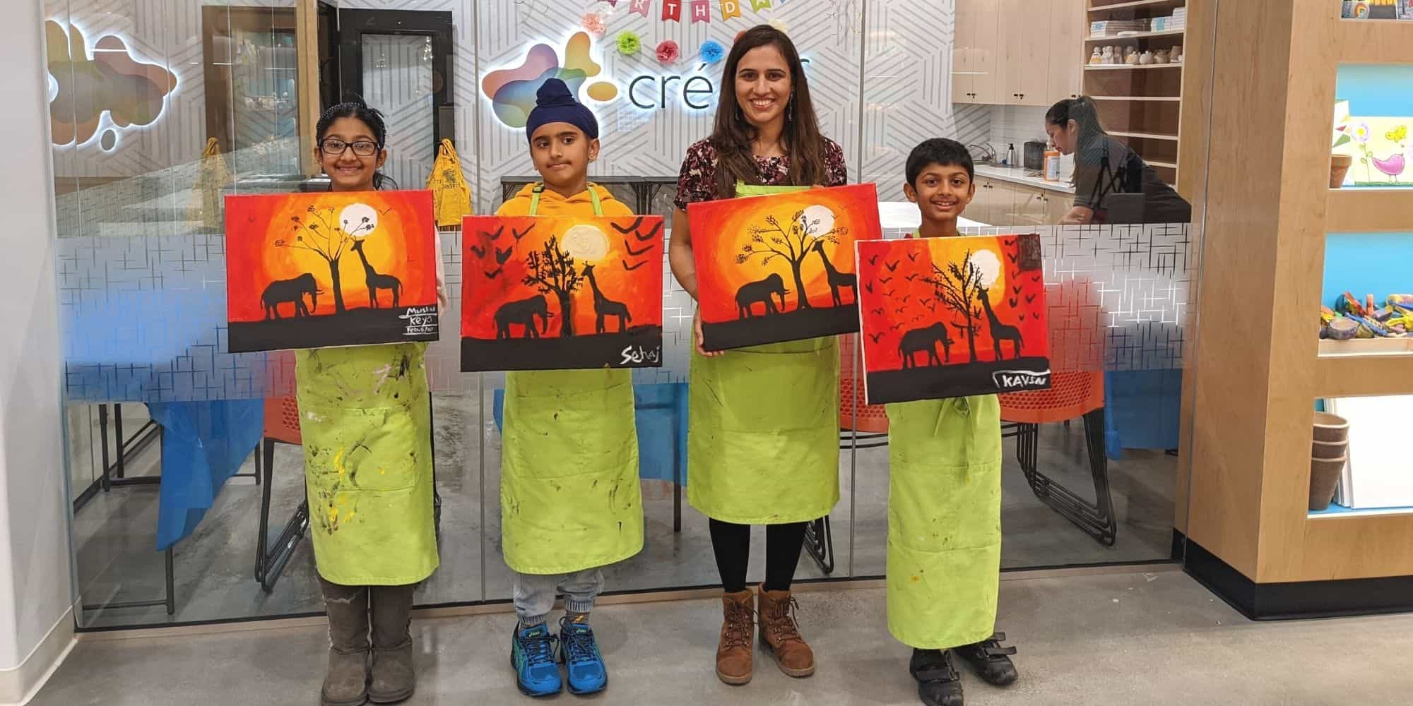 Painting Class Kids and Adults